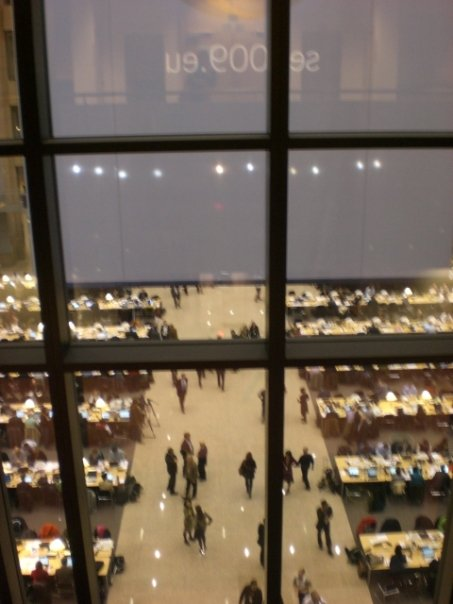 From the European Council building - the night the new Monsieur President was chosen - Mr Von Rompuy