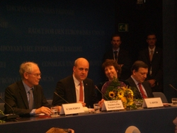 The night of the announcement President and High Representative of the European Council, 9 November, 2009, Brussels, Belgium